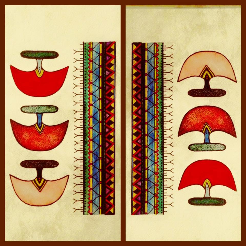 Tanya Mesher Jones Ulu Drawings
