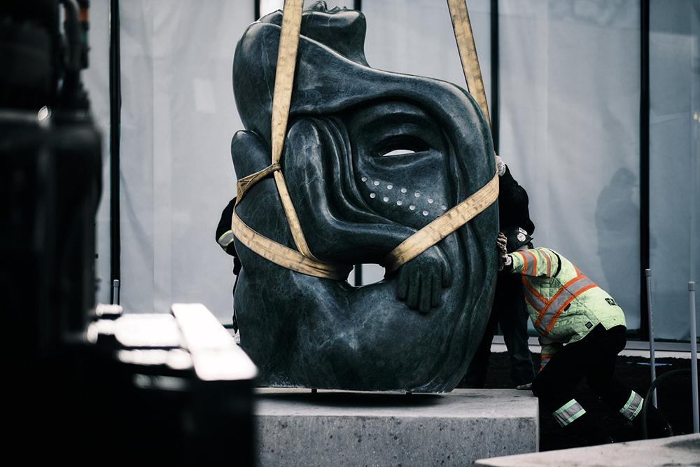 Goota Ashoona Qaumajuq Sculpture Installation 4. Photo Calvin Lee Joseph.